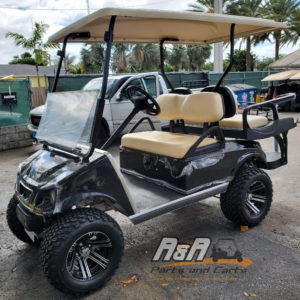 Black Spartan Golf Cart