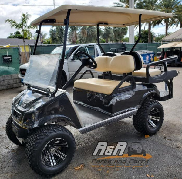 Black Spartan Golf Cart